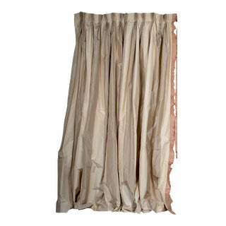 Hand Fabricated Silk Curtains For Sale