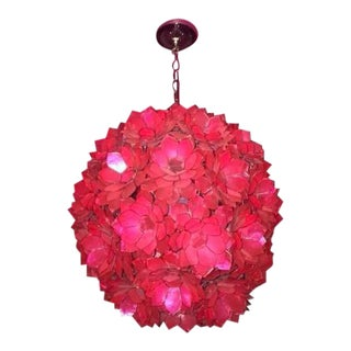 Worlds Away Pink Light Fixture