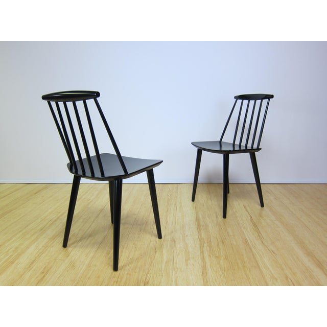 1960s 1968 Folke Palsson Black J77 Chairs for Fdb Mobler - a Pair For Sale - Image 5 of 10
