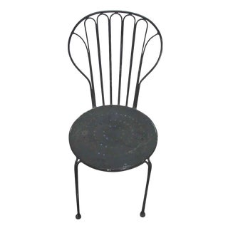Black Metal Chair For Sale