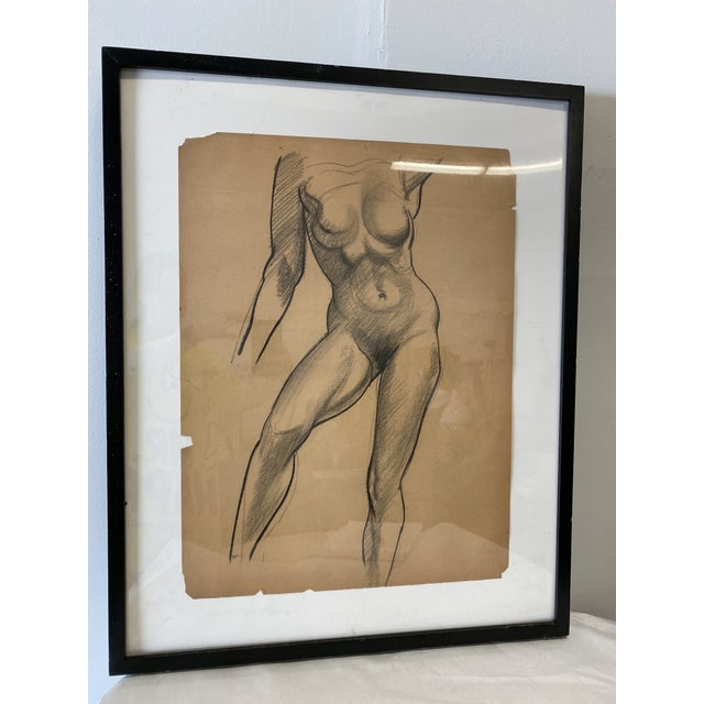 Figurative Female Nude Figurative Drawing For Sale - Image 3 of 7