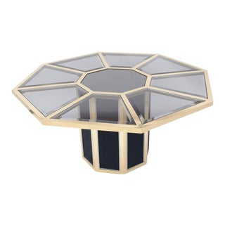 Roche Bobois Octagonal Brass Dining Table For Sale