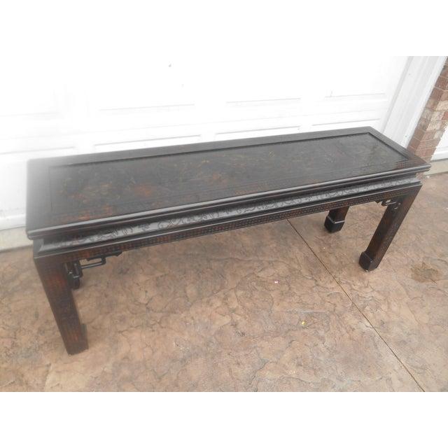 John Widdicomb John Widdicomb Chinoiserie Console Table For Sale - Image 4 of 13