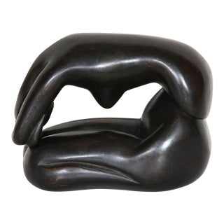 Curled Nude Bronze Sculpture by Lisa Fonssagrives-Penn For Sale