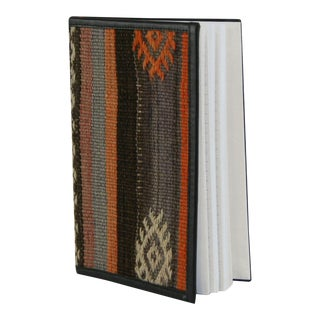 Rug & Relic Kilim Journal | Kilim Diary in Muted Stripes For Sale