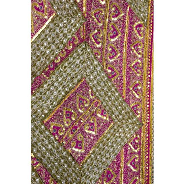 Mughal Style Metal Threaded Tapestry Framed from Rajasthan, India For Sale In Los Angeles - Image 6 of 13