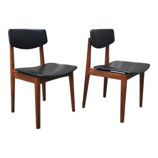 Dutch Modernist Midcentury Teak Dining Chair - a Pair For Sale