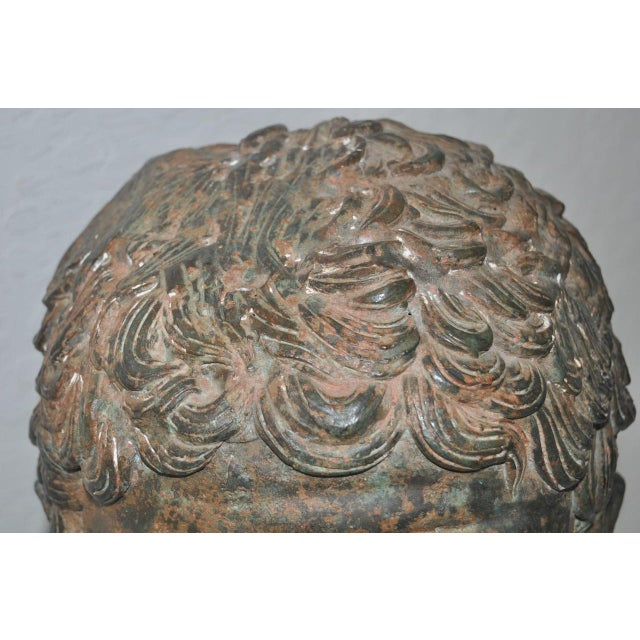 Mid 19th Century 19th Century Bronze Head After Greek Antiquities For Sale - Image 5 of 10