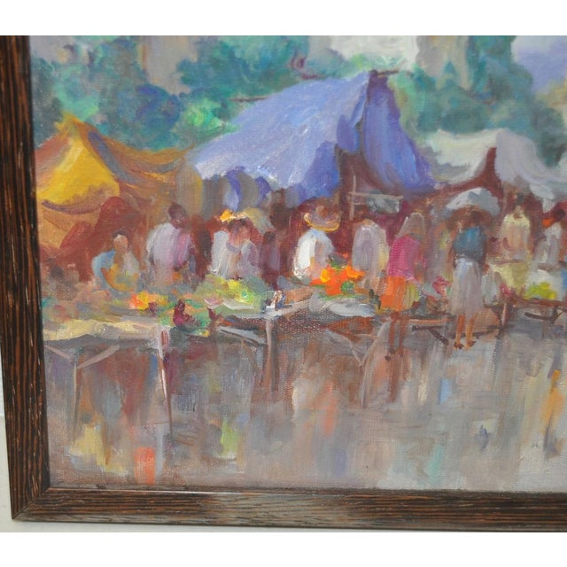 Vintage Impressionist Oil Painting by Gabetto For Sale - Image 5 of 8