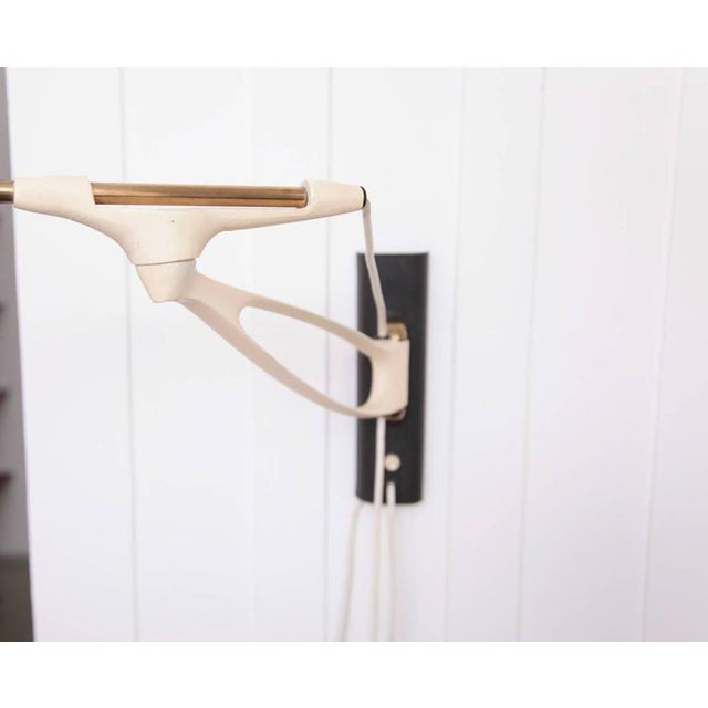 White Rare Adjustable Wall Lamp by Cosack Leuchten, Germany, 1950s For Sale - Image 8 of 8