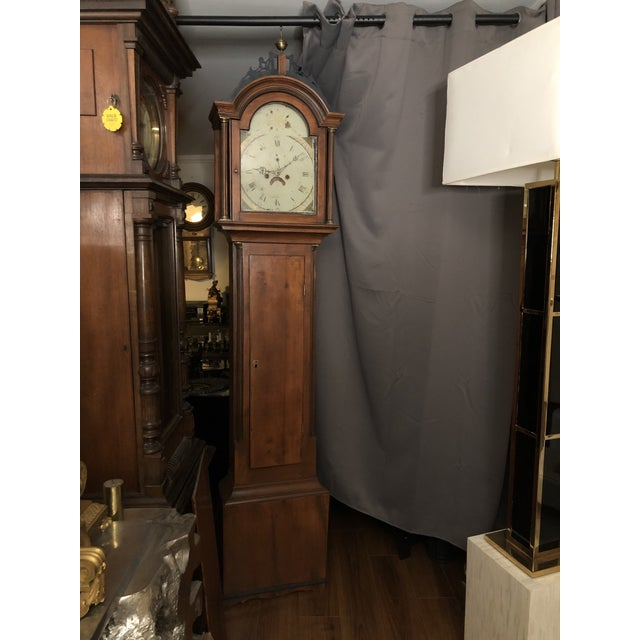 Antique Early American Grandfather Clock Attributed to Silas Parsons For Sale - Image 10 of 10