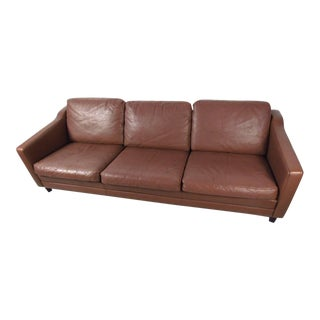 Børge Mogensen Style Danish Leather Sofa For Sale