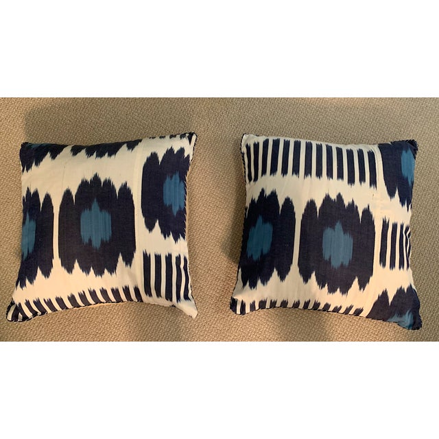 Contemporary Madeline Weinrib 18x18 Blue Collins Pillows - a Pair For Sale - Image 12 of 12