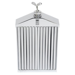 English Rolls Royce Chrome Grill Bottle For Sale