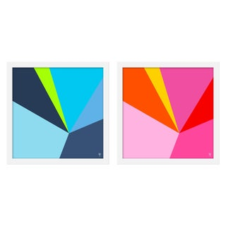 """Medium """"Fractured Brights Iii, Set of 2"""" Print by Wendy Concannon, 30"""" X 15"""" For Sale"""
