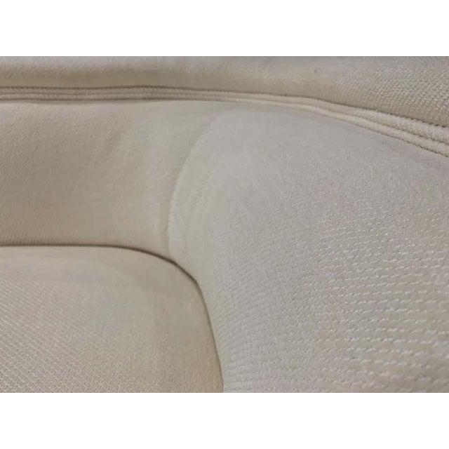 Vladimir Kagan Vladimir Kagan Style Directional Swivel Club Chairs - a Pair For Sale - Image 4 of 7