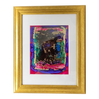 Ruby and Jade on Yupo Paper Framed Artwork For Sale