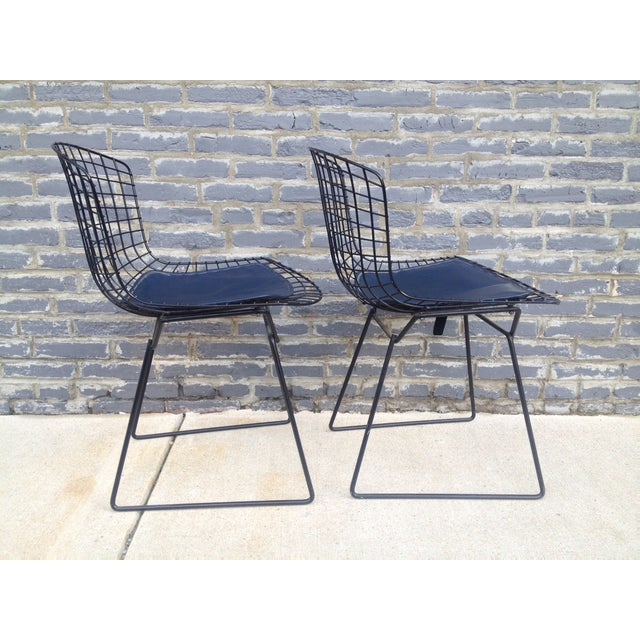 Harry Bertoia Black Side Chairs - Pair - Image 4 of 7