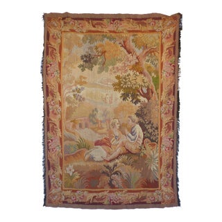 European Aubusson Style Hand Woven Wall Tapestry
