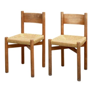Pair of Charlotte Perriand Chairs for Meribel, circa 1950