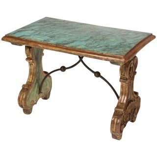 1920's Vintage Baroque Style Painted Table For Sale