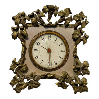 Columbia Time Products Electric Ornate Metal & Brass Clock For Sale