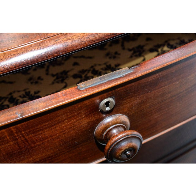 Mahogany Bow Front Chest For Sale In West Palm - Image 6 of 10