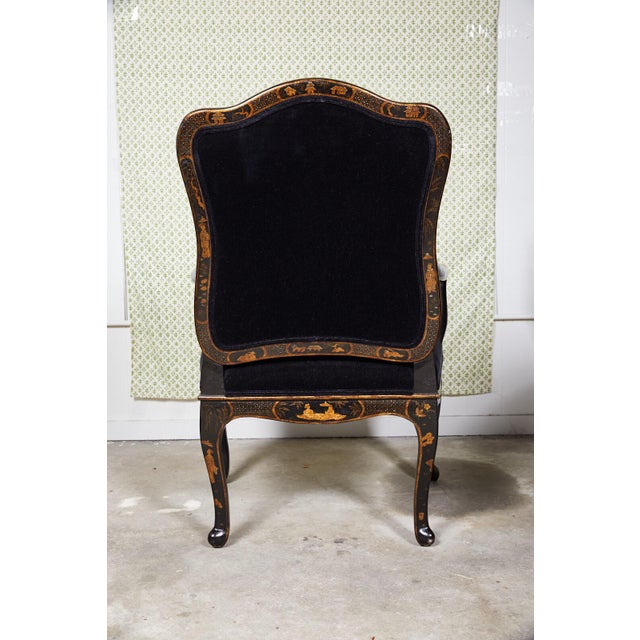Chinoiserie Louis XV Style Chinoiserie Fauteuil by Sally Sirkin Lewis for J Robert Scott For Sale - Image 3 of 12