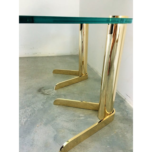 MCM Brass & Glass Side Tables by Pace - A Pair - Image 3 of 6