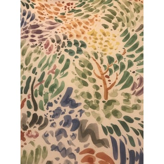"Vintage Clarence House ""Sole"" by Kazumi Fabric- 5 1/2 Yards For Sale"