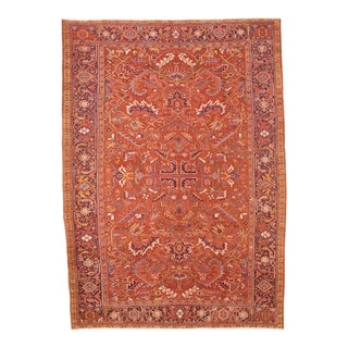 "Antique Hariz Wool Iran Rug - 7'11"" x 10'11"""