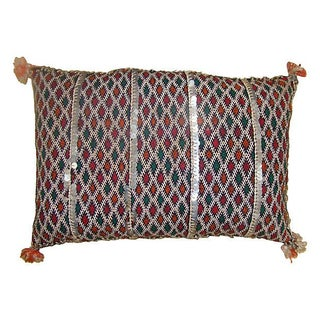 Moroccan Berber Sham With Sequins Stripe