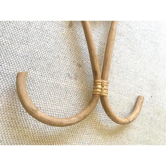 Contemporary Vintage Rattan Hanger Hook For Sale - Image 3 of 10