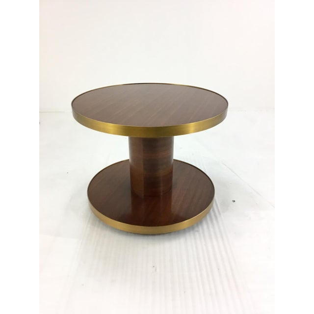 2010s Barbara Barry for Henredon Small Wood Drum Table For Sale - Image 5 of 5