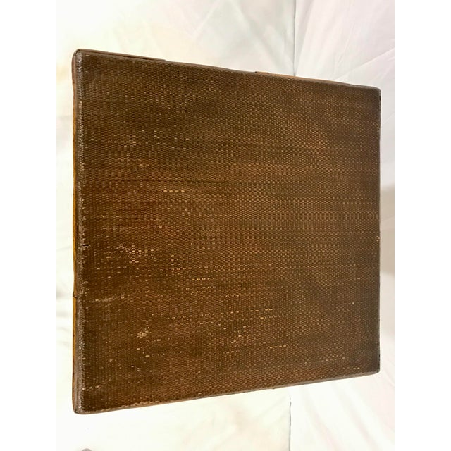 Wood English 19th Century Bamboo Sewing Table For Sale - Image 7 of 9