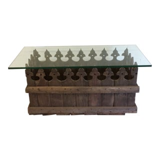 Vintage Moroccan Style Reclaimed Wood Coffee Table For Sale