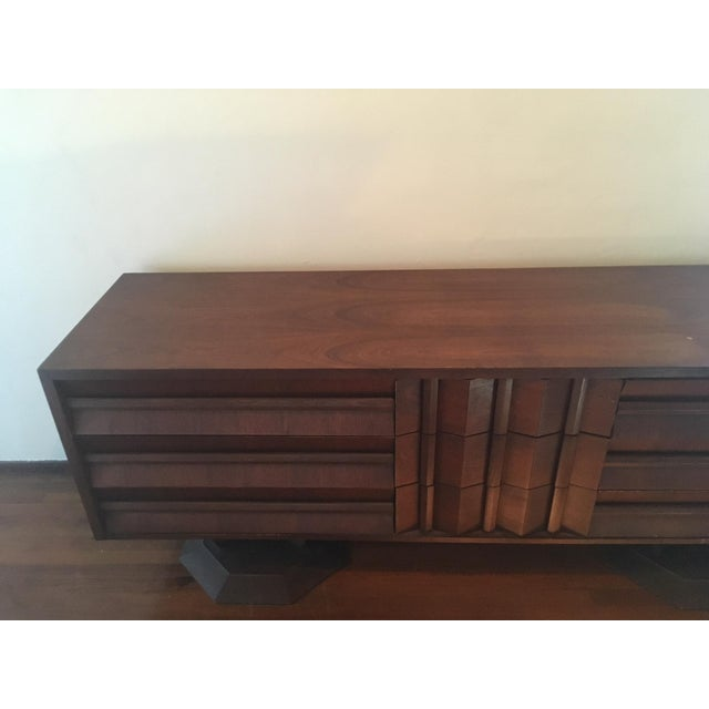 Mid-Century Modern Architectural Wooden Dresser, Credenza, or Buffet For Sale - Image 4 of 7