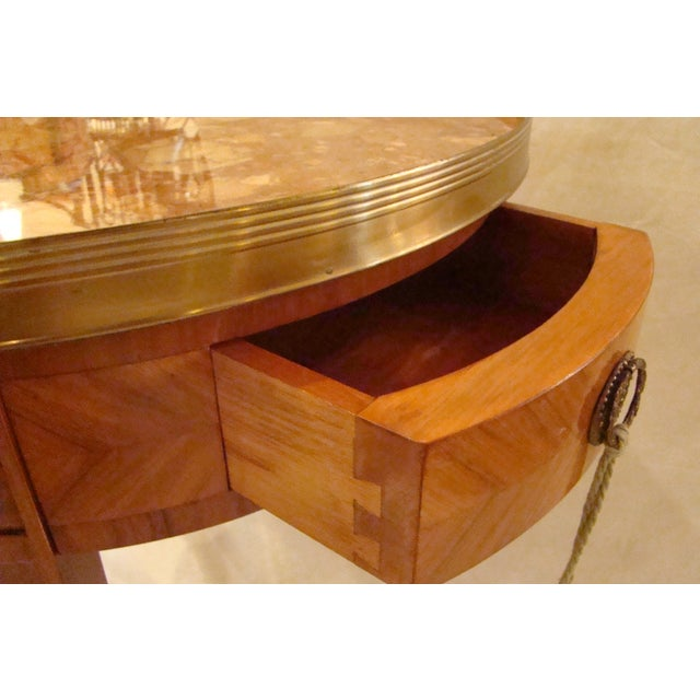 French Louis XVI Style Bouillotte Table - Image 5 of 11