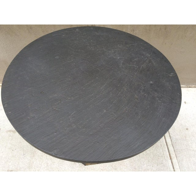 Paul Evans Paul Evans Round Slate Top Table For Sale - Image 4 of 7