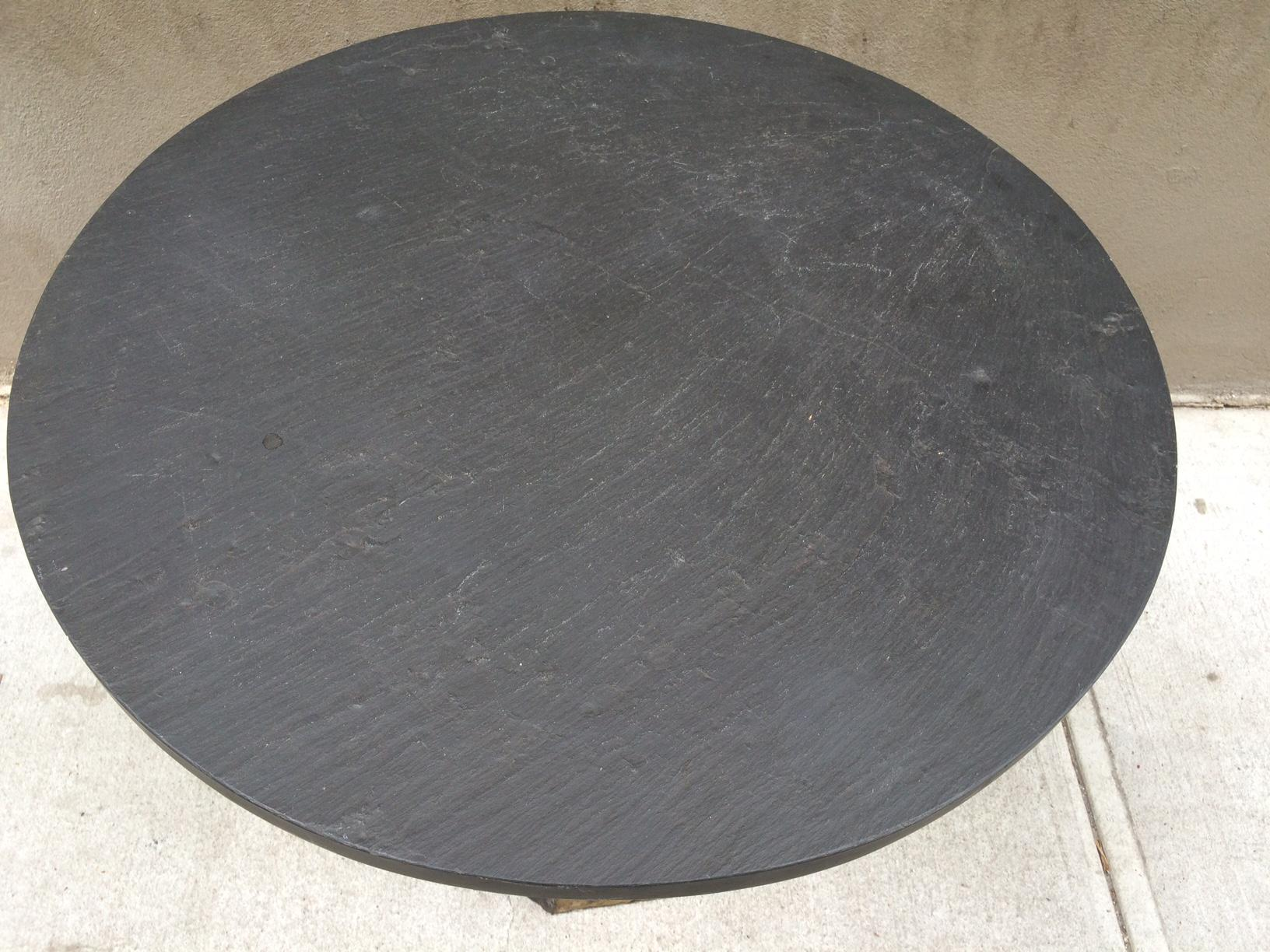 Paul Evans Round Slate Top Table   Image 4 Of 7
