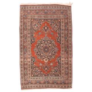 """1910s Antique Tabriz Persian Rug-4'4"""" X 6'9"""" For Sale"""