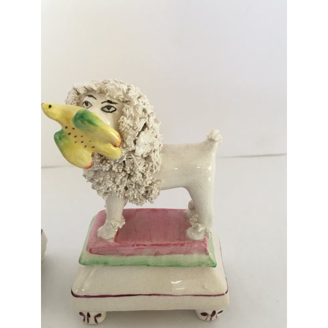 Antique Staffordshire Poodle Dog Figurines - A Pair For Sale - Image 5 of 11