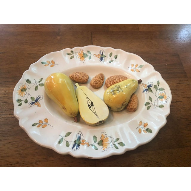 Vintage Tromp Loeil Majolica Fruit Plate For Sale In Pittsburgh - Image 6 of 6