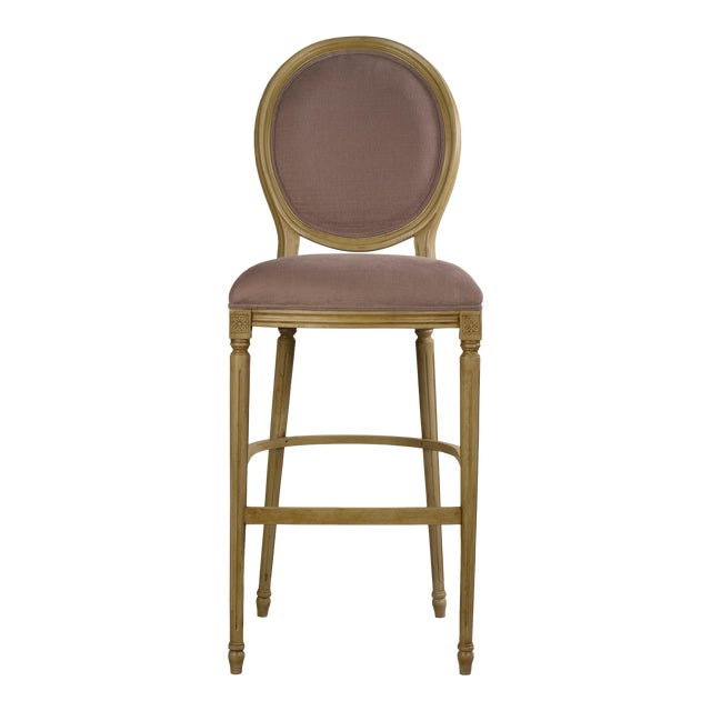 Sarreid LTD Louis XVI Round Back Bar Stool - Image 1 of 4