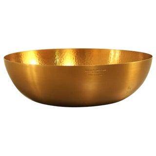 Handplated brass fruitbowl by Tapio Wirkkala for Kultakeskus Oy For Sale