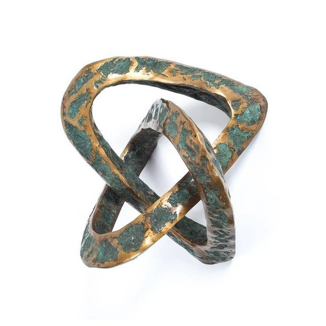 Sculptural Brutalist Mobius Bronze Table, circa 1955 For Sale - Image 4 of 8