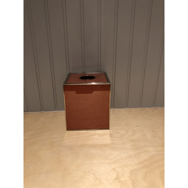 2010s Jm Piers Tissue Box Cover For Sale - Image 5 of 5