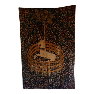 The Unicorn in Captivity Tapestry, Reproduction Made in Germany For Sale