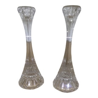 Traditional Crystal Candlesticks - a Pair For Sale