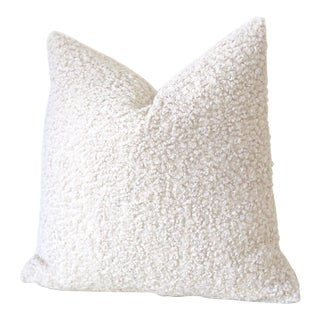 Ivory Faux Poodle Fur Pillow Cover 18x18 For Sale
